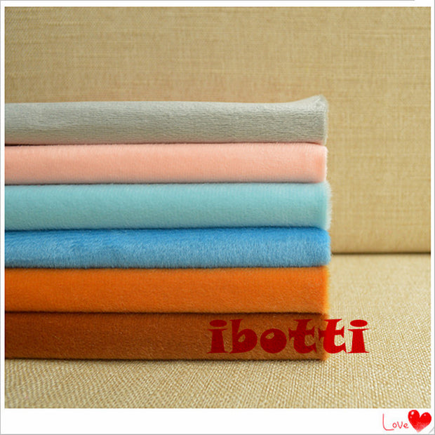 6 Pcs 40*50cm Solid Color Fabric Meter Plush Fleece Cotton Fabrics Telas Tissus Patchwork Sewing Textiles Handmade Peluche Felt