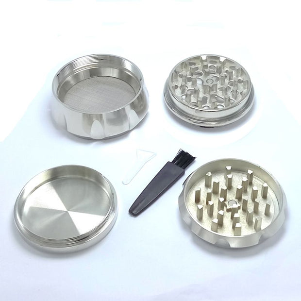 63MM 4 Layer Zinc Alloy Cigarette Tobacco Grinder Rhomboid Chamfering Side Concave Drum Style Herbal Herb Spice Crusher Gift