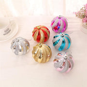 6pcs Christmas Tree Hanging Ornaments Glitter Ball Pendant Christmas Holiday Home Party Decoration (Rosy)