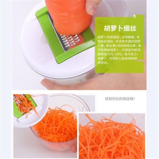 6pcs Vegetable Onion Garlic Food Chopper Cutter Slicer Kitchen Peeler Twister
