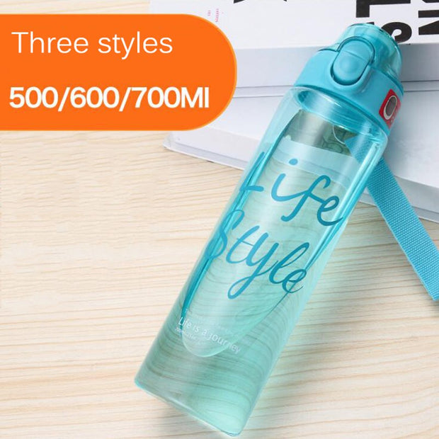 700ml 600ml 500ml New Plastic Convenience Sports Water Bottles Lovers General Vehicle Leakproof Automatic Buckle Water Bottle