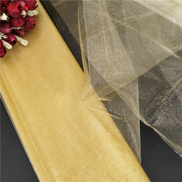 72CM X 10M Organza Tulle Roll Fabric Sheer Tutu Skirt Wedding Gift Bow Craft Wedding Home Party Garden Decor Party Supply 8Z