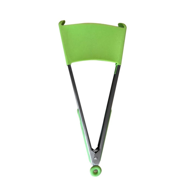 9 Inch Multifunctional Silica Gel Clip Pan Silicone Kitchen Spatula & Tongs Non-stick Heat Resistant BBQ Tongs Kitchen Tool