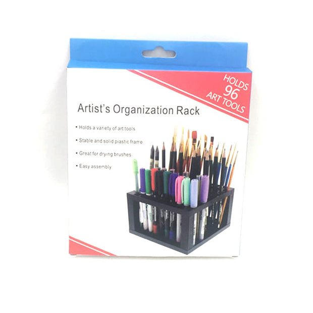 96Hole Plastic Painting Pencils Brushes Colored Pencils Detachable Holder Organizer Desk Stand Multifunction Home Storage Holder