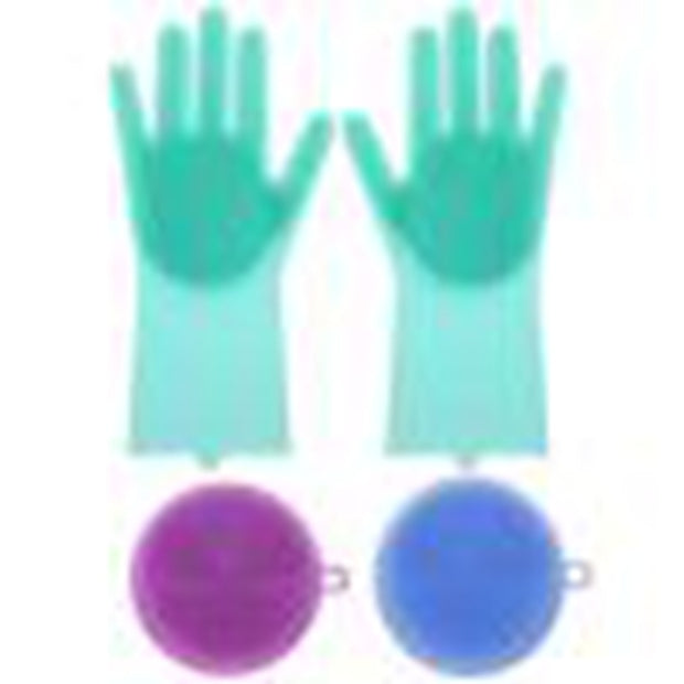 1bf77ce78 A Pair Magic Silicone Scrubber Rubber Cleaning Gloves Dusting|Dish Washing|Pet  Care Grooming Hair Car|Insulated Kitchen Helper