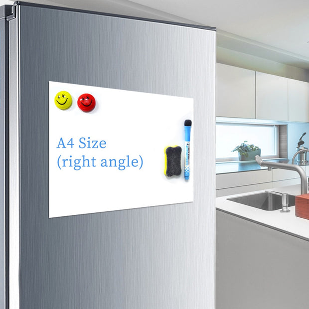 A4 Magnetic Whiteboard Fridge Reminder Family Message Board Office Memo Home Supplies 1Pc