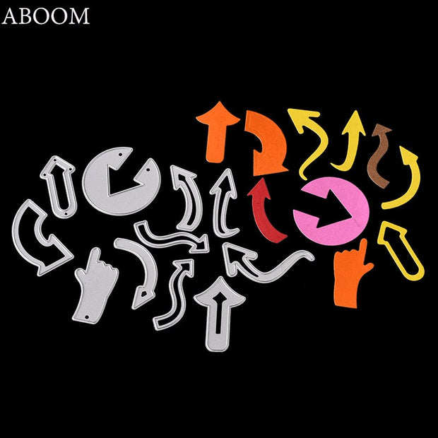 ABOOM Arrows Set Metal Cutting Dies Stencils For DIY Scrapbooking Photo Album Decorative Embossing DIY Paper Cards Template