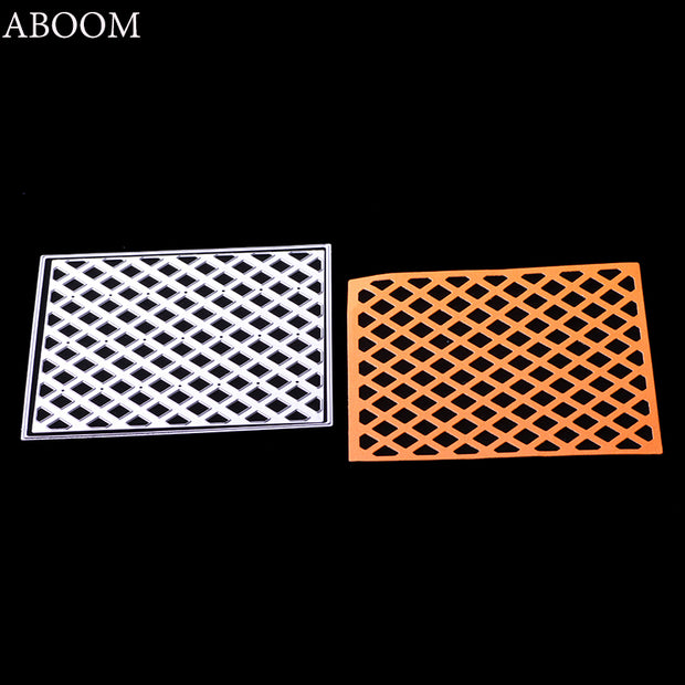 ABOOM Fresh 1PC Square 12.2cm*12.2cm Metal Carbon Steel Die Cut Embossing Folder Decorative Paper Template DIY Card Making Mold