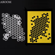 ABOOM Fresh Customized Irregular Hexagon Cutting Dies Metal Embossing Scrapbooking Stencil Cut Die Craft For DIY Invitation Card