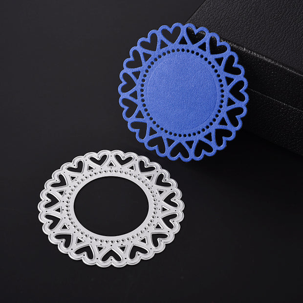 ABOOM Hot 1PC Heart Round Scrapbook Cutting Dies Metal Die Cutting Die For DIY Scrapbooking Photo Album Embossing Folder Stencil