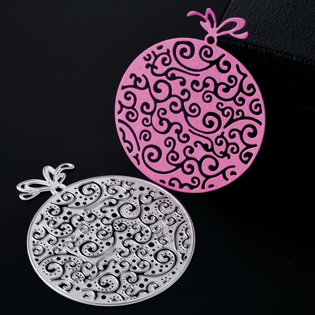 ABOOM Hot 1PC Round Gift Packing Metal Carbon Steel Die Cut Embossing Folder Scrapbooking Cutting Dies Kid Play Card DIY Mold