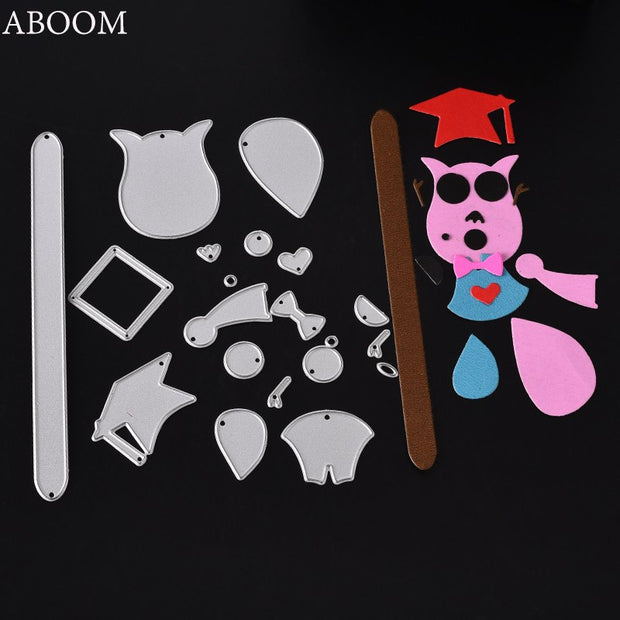 ABOOM Hot Cap Set Silver Metal Carbon Steel Die Cut Embossing Folder Scrapbooking Album Photo Decorative Cutting Dies Paper Mold