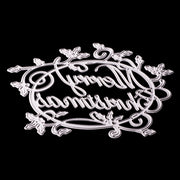 ABOOM Hot Merry Christmas Words Metal Cutting Dies Stencil For DIY Scrapbooking Photo Album Decorative Embossing DIY Paper Cards
