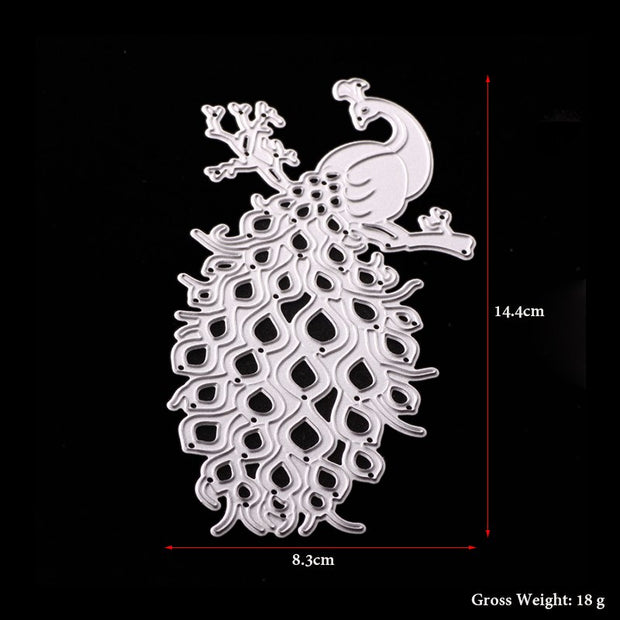 ABOOM Hot Scrapbooking DIY Cute Peacock Shape Metal Steel Cutting Die Flower Book Photo Album Art Card Dies Cut Embossing Folder