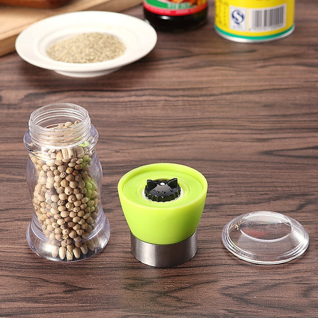 ABS+stainless Steel+ceramic Pepper Spice Mill Grinder Set Handheld Seasoning Mills Grinder Cooking BBQ Tools Set