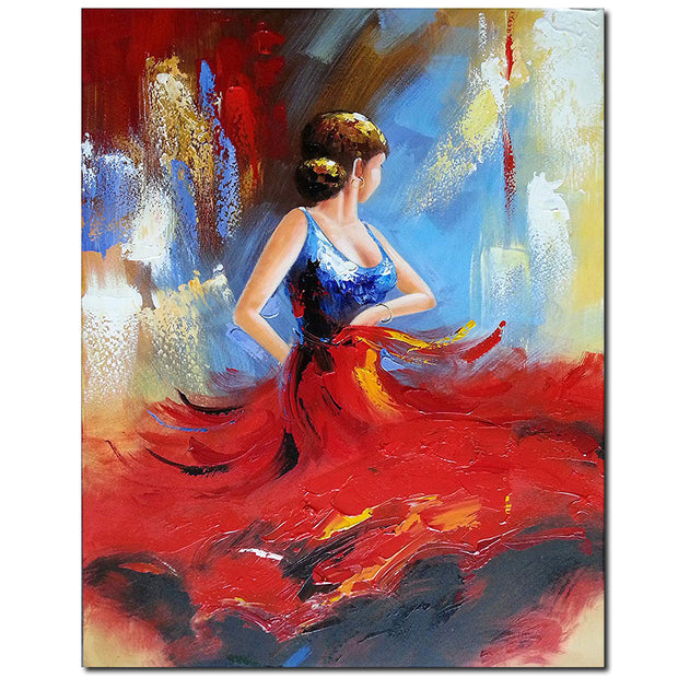 Abstract Dancing People Oil Paintings On Canvas Wall Art Work For Living Room Bedroom Home Decorations 40*50cm