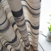 Abstract Striped Polyester Simple Patio Door Window Curtain Grommet Top Drape Valance Home Decor Vliegengordijn