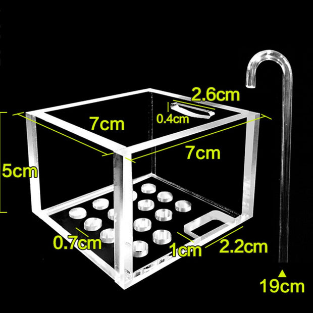 Acrylic External Blunt Oxygen Wall Mounting Type Water Purifier Aquarium Filter Case