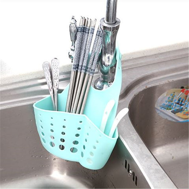 Adjustable Kitchen Sink Storage Bag Bags Baskets Kitchen Storage Organization