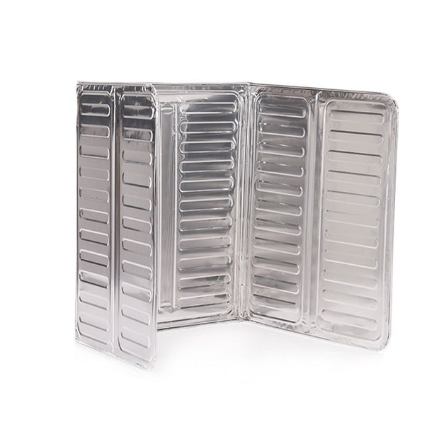 Aluminium Foil Plate Gas Stove Oil Splatter Screens Anti Splatter Shield Guard Oil Divider Cooking Insulate Baffle Kitchen Plate