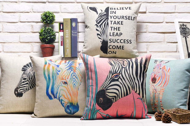 American Retro Creative Zebra Printed Pillowcase Modern Minimalist Cushions Decorative Pillow Home Decor Throw Pillows 45*45
