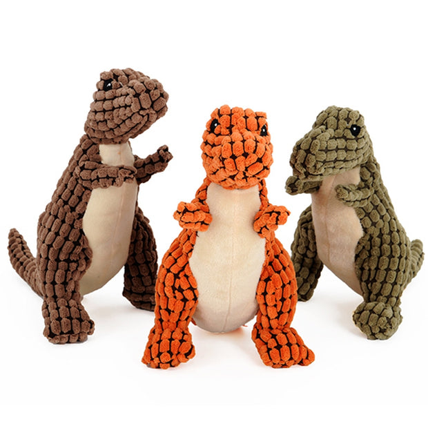 Animal Shape Dinosaur Sound Chew Interactive Squeaky Plush Pet Toy Cats And Dogs Pet Toy Honden Speelgoed Jouet Chien