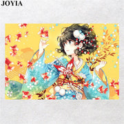 "Anime Poster Japanese Kimono Girl Wall Art Prints Decorative Pictures Home Bedroom Decoration 16x24"" 20x30"" 24x36 Inch"