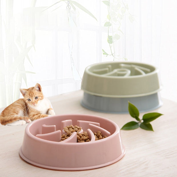 Anti-smashing Food Bowl Pet Dog Cat Feeding Bowl Flower Shape Slow Eating Food Bowl For Small Medium Puppy Kitty Supplies