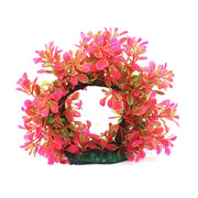 Aquarium Plastic Artificial Tree Water Grass Fish Tank Pink, Green Decoration 87g