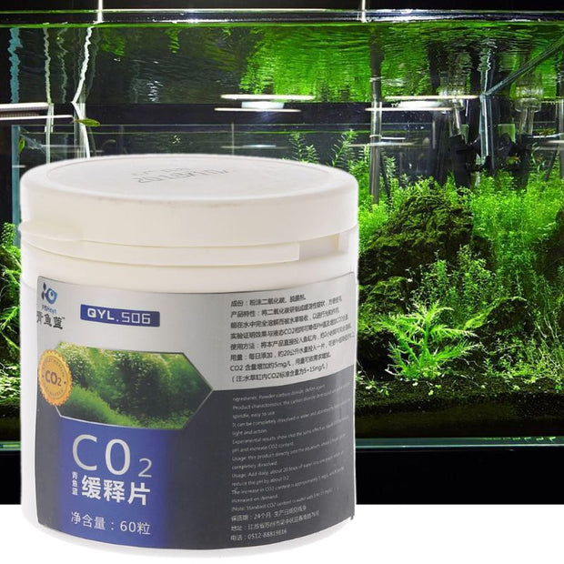 Aquariums Carbon Dioxide CO2 Tablet For Fish Tank Plant Water Grass Diffuser 60pcs/box