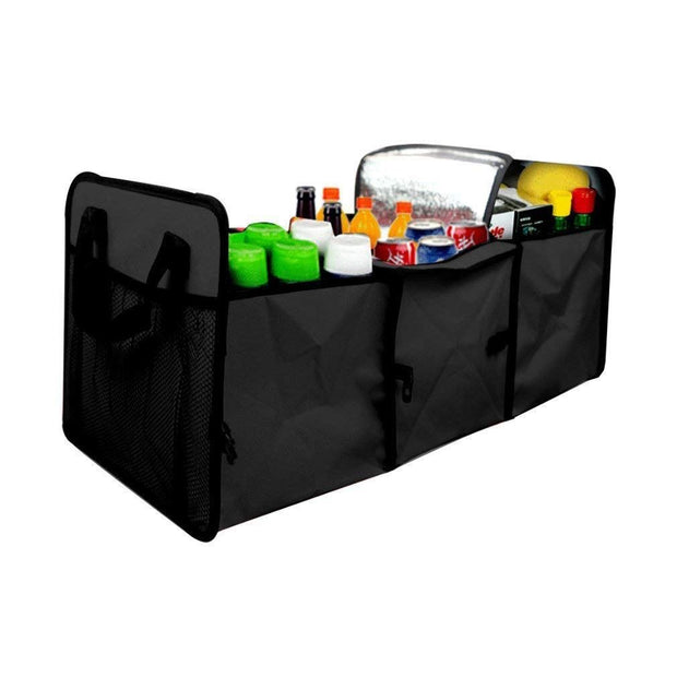 Auto Trunk Organizer,Collapsible Car Cargo Organizer With Cooling And Insulation Compartment For Car Organizing Shopping Campi