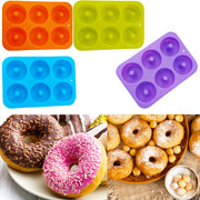 Baking Pastry ToolSilicone Round Shape Doughnuts Mold Donut Mold Baking Jelly Fondant Cake Chocolate Decoration Bagels Muffin