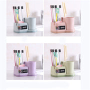 Bathroom Mouthwash Tools Set Holder Bathroom Brushing Teeth Cup Holder Combination Bathroom Toothbrush Toothpaste Holder