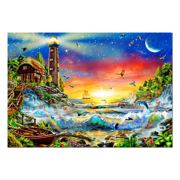 Bay Scenery Diamond Painting Cross Stitch Full Square Picture Of Rhinestone DIY Diamond Embroidery Paint Sale Wall Decor