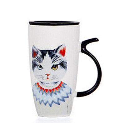 BearPaw Original Ceramic Cartoon Coffee Mugs With Lid Spoon High-capacity  Print Cats Eco-Friendly For Dropshipping Wholesale