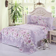 Beauty Floral Printing Flat Sheet For Single Double Bed Children Adults Bedroom Use Flat Bed Sheet (No Pillowcase) XF337-1 40