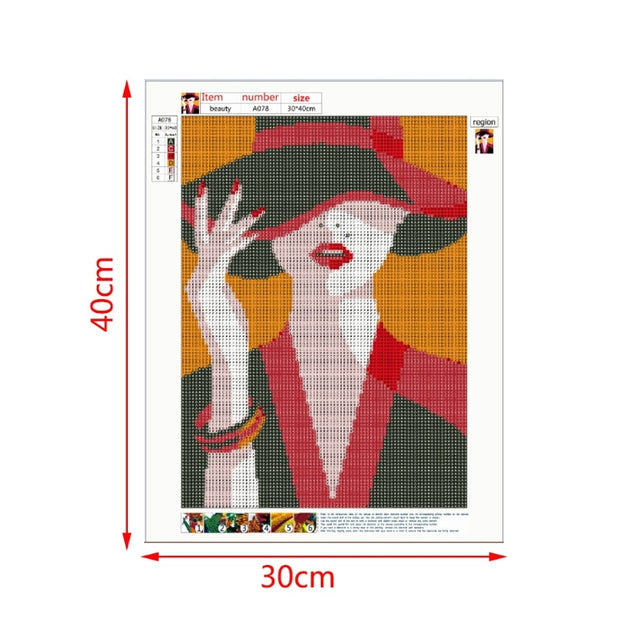 Beauty Lady DIY 5D Diamond Painting Embroidery Cross Stitch Craft Home Decor Kit