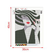 Beauty Lady DIY 5D Diamond Painting Embroidery Cross Stitch Kit Craft Home Decor