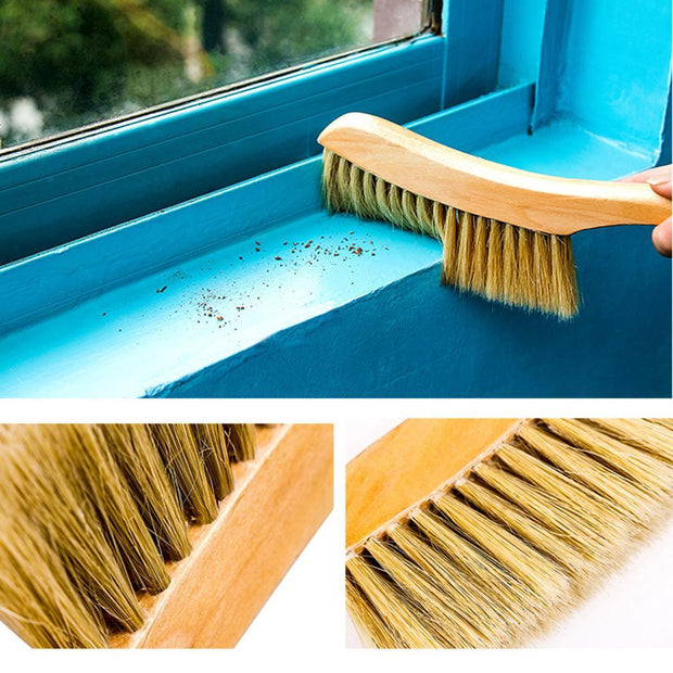Bed Brush Anti-static Bristle Dust Cleaning Home Brush 31.5cm/12.4inch Sweep Brown Casual Bed Scrub