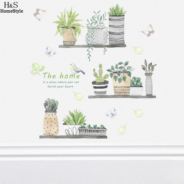 Bedroom Living Decorative Damaging Without Removable Remove Room Home Plants Easy Wall Wall PVC Decals Stickers Your To