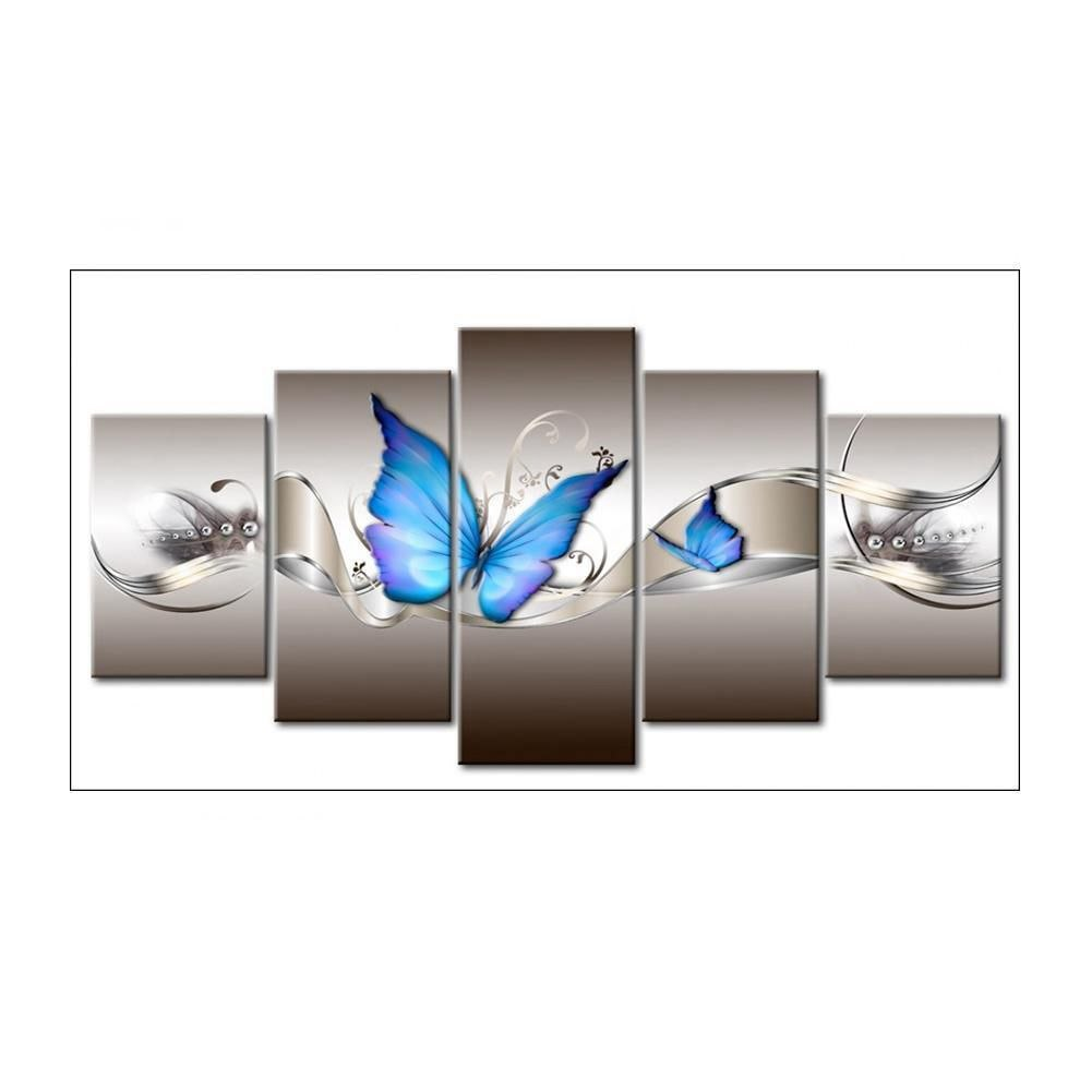 DIY 5D Diamond Embroidery Painting Blue Butterfly Cross Stitch Crafts Home Decor