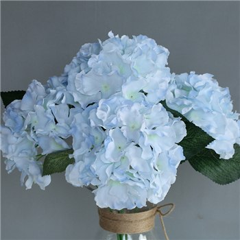 Big Hydrangea Heads Flower Artificial Hydrangea Plants Bouquet For