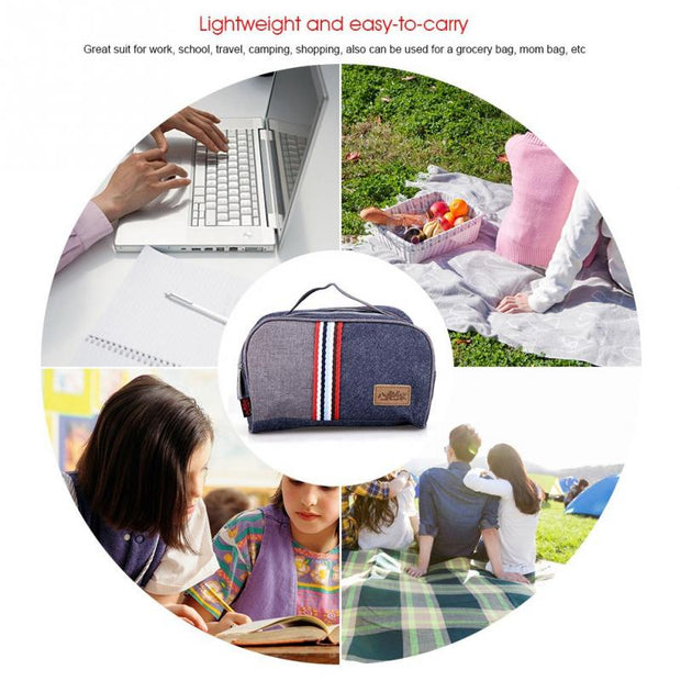 Big Discount Thermal Insulated Cooler Lunch Bag Travel School Picnic Food Storage Case Container Made Of Good Quality Promotion