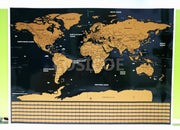 Big Size World Scratch Wall Map Deluxe Edition Scratch World Map With Scratch Off Layer Visual Travel Journal For Travel Maps A1