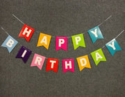 Birthday Party Banner Happy Birthday Letter Hanging Banner Colorful Paper Banner For Birthday Party