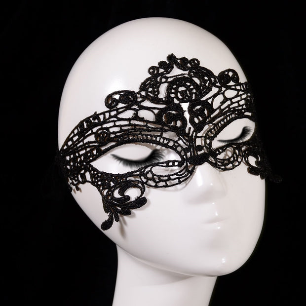 c279c71f0399 Black Sexy Lady Lace Cutout Eye Mask Venetian Mask Masquerade Ball Prom Fancy  Dress Halloween Costume
