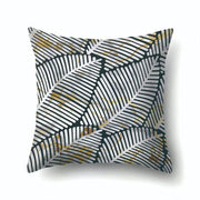 Black And White Stripe Square Throw Pillow Case Simple Polyester Pillowcase For Living Room Bedroom 45*45cm