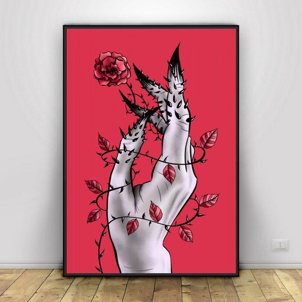 Body Parts In Distress Art Canvas Painting Art Print Poster Picture Wa Home Decor