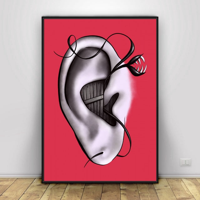 Body Parts In Distress Art Canvas Painting Art Print Poster Picture Wall Modern Minimalist Bedroom Living Room Decoration