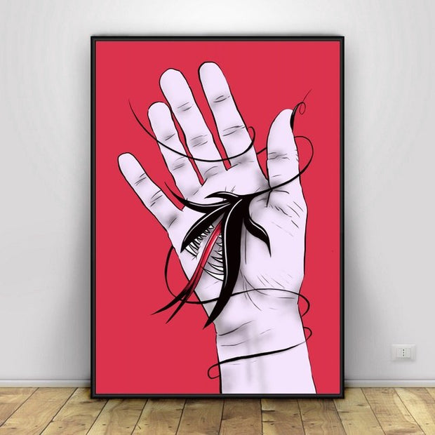 Body Parts In Distress Art Canvas Painting Art Print Poster
